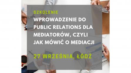 Szkolenie z Public Relations – 27 września